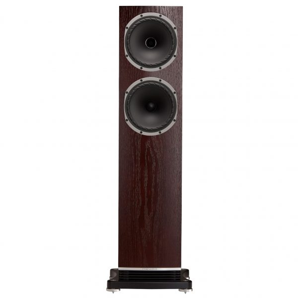 F502 Front Dark Oak Large Floorstander